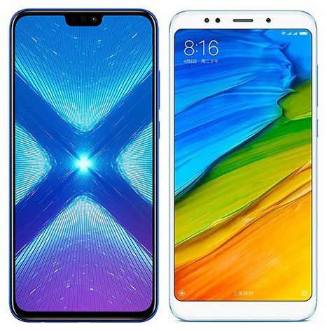 Smartphone Comparison: Honor 8x vs Xiaomi redmi 5 plus