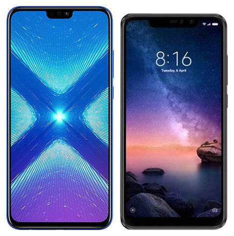 Smartphone Comparison: Honor 8x vs Xiaomi redmi note 6 pro