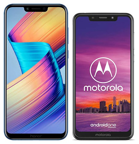 Smartphonevergleich: Honor play oder Motorola one