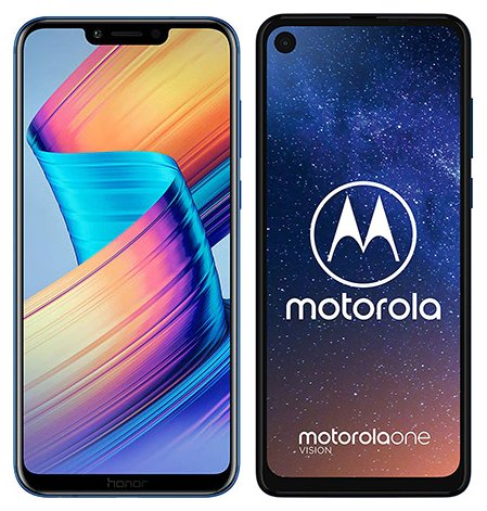 Smartphonevergleich: Honor play oder Motorola one vision