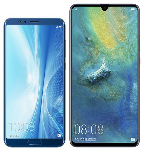 Compare smartphones: Honor Honor View 10 vs Huawei Mate 20 X