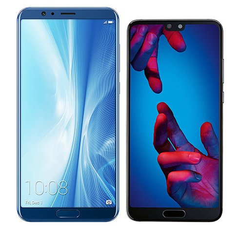 Smartphonevergleich: Honor view 10 oder Huawei p20
