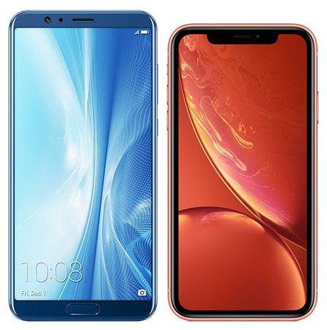 Compare smartphones: Honor Honor View 10 vs Apple iPhone XR