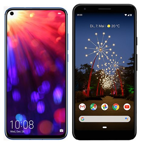 Smartphone Comparison: Honor view 20 vs Google pixel 3a xl