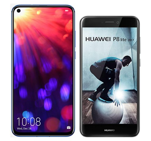 Smartphone Comparison: Honor view 20 vs Huawei p8 lite