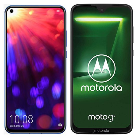 Smartphone Comparison: Honor view 20 vs Motorola moto g7