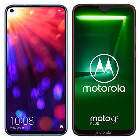 Smartphone Comparison: Honor view 20 vs Motorola moto g7 plus