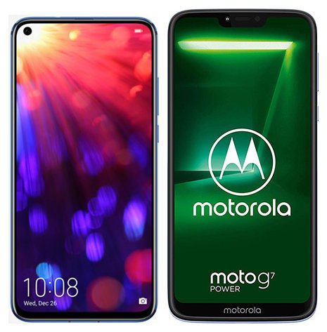Smartphone Comparison: Honor view 20 vs Motorola moto g7 power