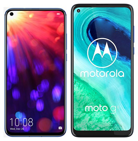 Smartphone Comparison: Honor view 20 vs Motorola moto g8