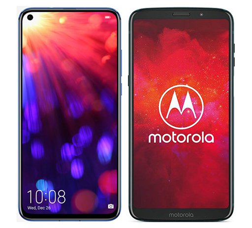 Smartphone Comparison: Honor view 20 vs Motorola moto z3 play
