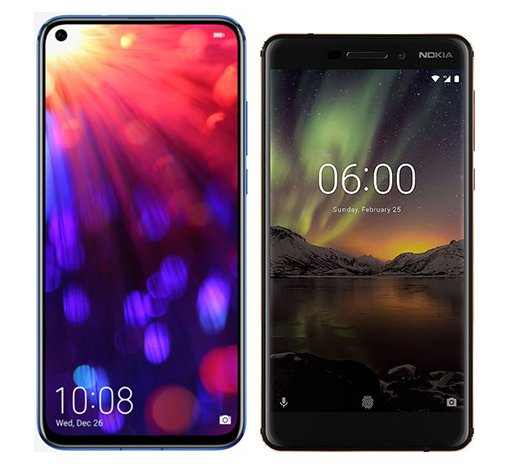 Smartphone Comparison: Honor view 20 vs Nokia 6 1