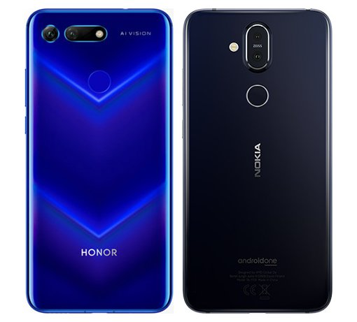 Honor View 20 vs Nokia 8.1. View of main cameras