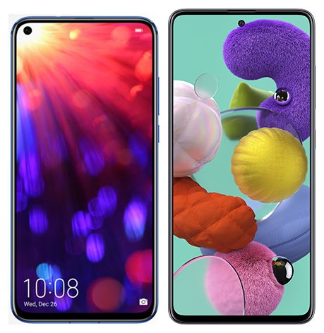 Smartphone Comparison: Honor view 20 vs Samsung galaxy a51