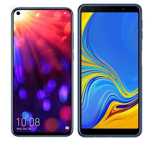 Smartphone Comparison: Honor view 20 vs Samsung galaxy a7 2018