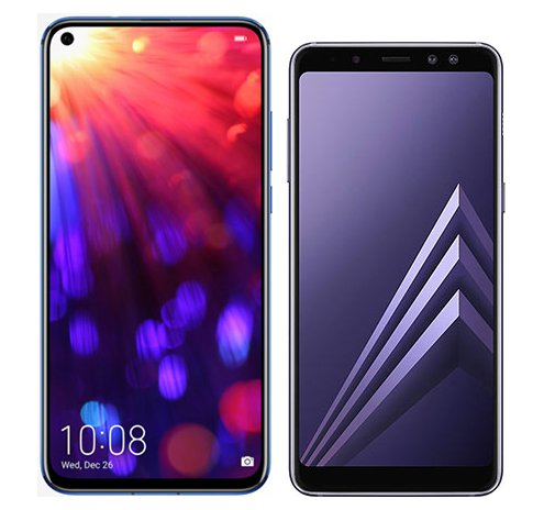 Smartphone Comparison: Honor view 20 vs Samsung galaxy a8