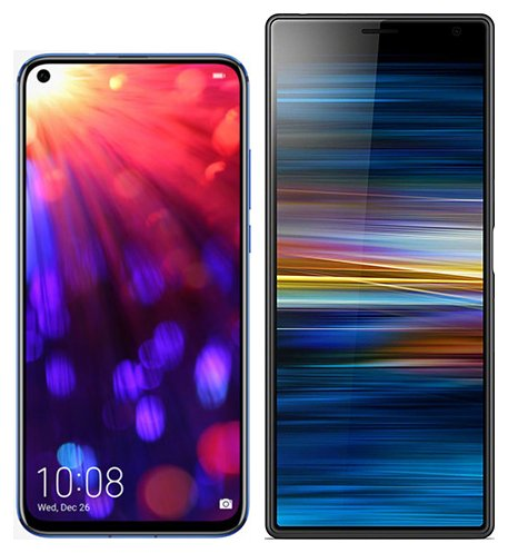 Smartphone Comparison: Honor view 20 vs Sony xperia 10 plus