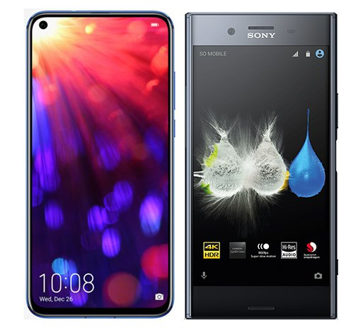 Smartphone Comparison: Honor view 20 vs Sony xperia xz premium