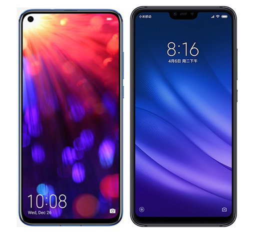 Smartphone Comparison: Honor view 20 vs Xiaomi mi 8 lite