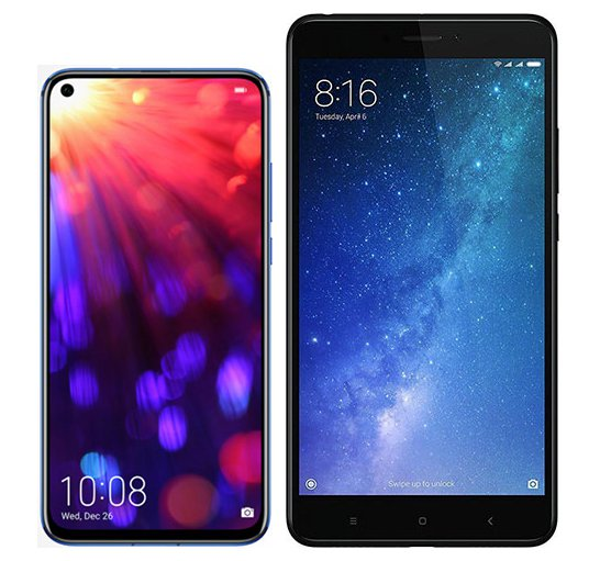 Smartphone Comparison: Honor view 20 vs Xiaomi mi max 2