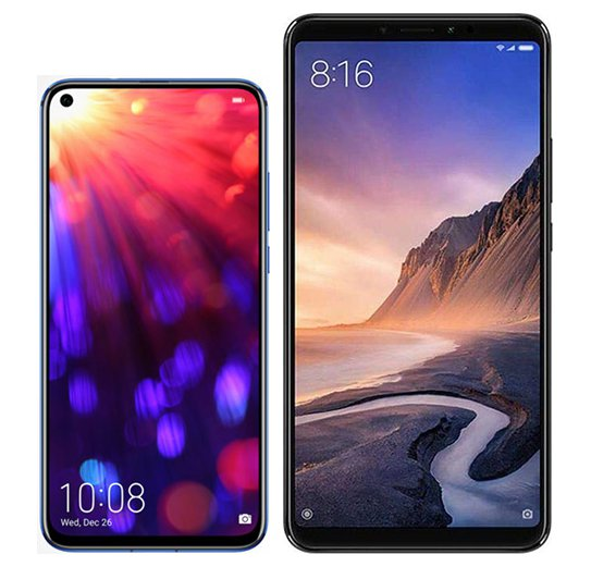 Smartphone Comparison: Honor view 20 vs Xiaomi mi max 3