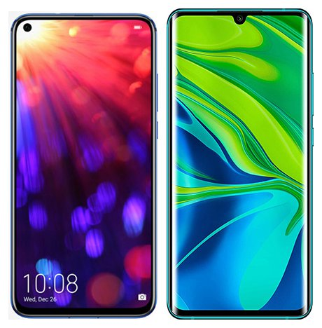 Smartphone Comparison: Honor view 20 vs Xiaomi note 10