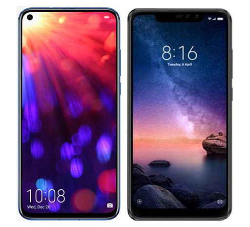 Smartphonevergleich: Honor view 20 oder Xiaomi redmi note 6 pro
