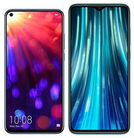 Smartphone Comparison: Honor view 20 vs Xiaomi redmi note 8 pro