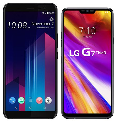 Smartphone Comparison: Htc u11 plus vs Lg g7 thinq