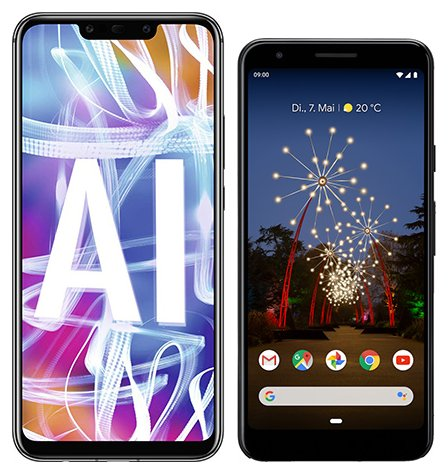 Smartphone Comparison: Huawei mate 20 lite vs Google pixel 3a