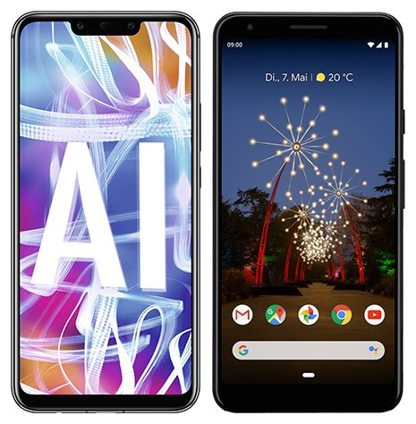 Smartphone Comparison: Huawei mate 20 lite vs Google pixel 3a xl