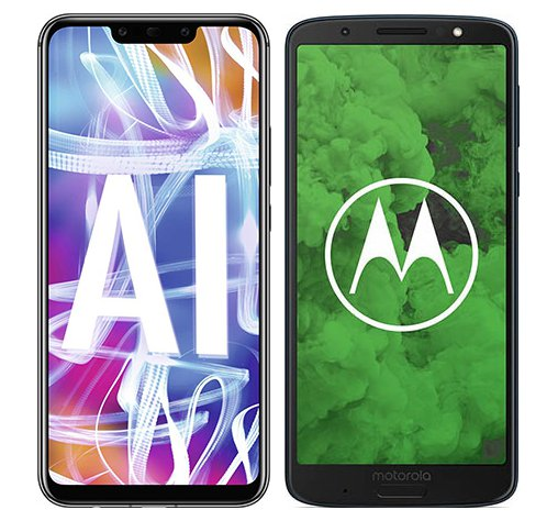 Smartphone Comparison: Huawei mate 20 lite vs Motorola moto g6 plus