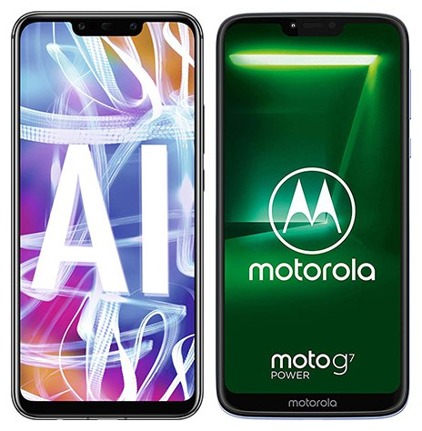 Smartphone Comparison: Huawei mate 20 lite vs Motorola moto g7 power