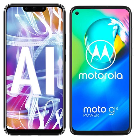 Smartphone Comparison: Huawei mate 20 lite vs Motorola moto g8 power