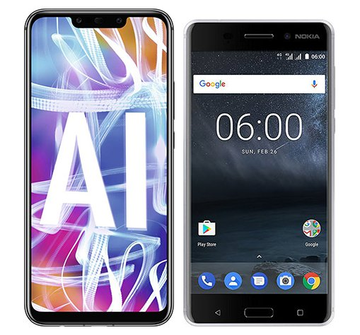 Smartphone Comparison: Huawei mate 20 lite vs Nokia 6