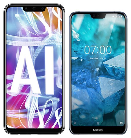 Smartphone Comparison: Huawei mate 20 lite vs Nokia 7 1