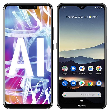 Smartphone Comparison: Huawei mate 20 lite vs Nokia 7 2