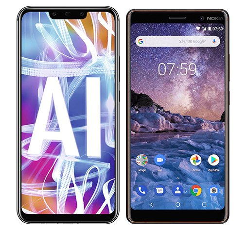 Smartphone Comparison: Huawei mate 20 lite vs Nokia 7 plus