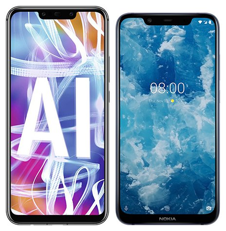 Smartphone Comparison: Huawei mate 20 lite vs Nokia 8 1