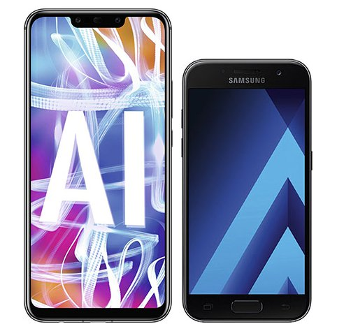 Smartphone Comparison: Huawei mate 20 lite vs Samsung galaxy a3 2017