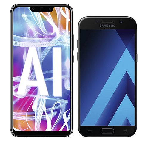 Smartphone Comparison: Huawei mate 20 lite vs Samsung galaxy a5 2017