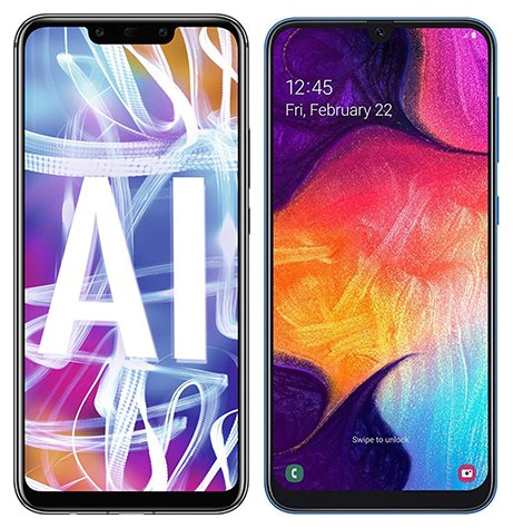 Smartphone Comparison: Huawei mate 20 lite vs Samsung galaxy a50