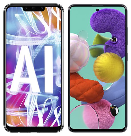 Smartphone Comparison: Huawei mate 20 lite vs Samsung galaxy a51