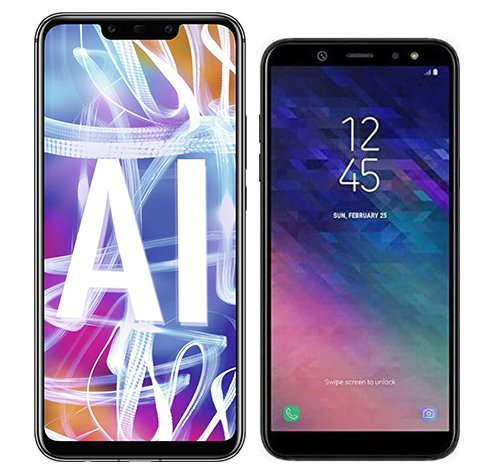 Smartphone Comparison: Huawei mate 20 lite vs Samsung galaxy a6