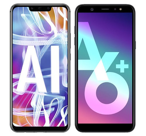 Smartphone Comparison: Huawei mate 20 lite vs Samsung galaxy a6 plus