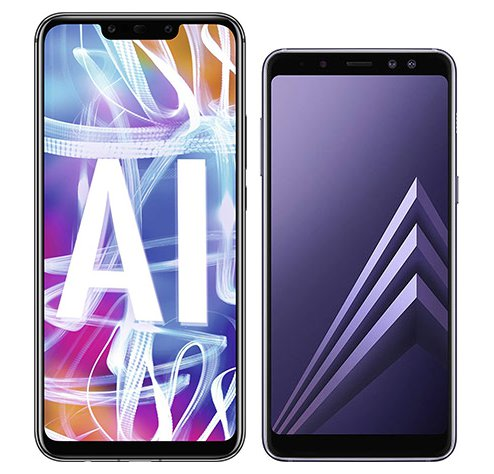 Smartphone Comparison: Huawei mate 20 lite vs Samsung galaxy a8