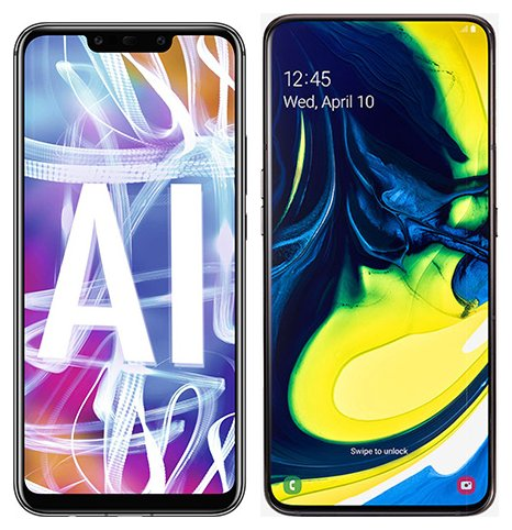 Smartphone Comparison: Huawei mate 20 lite vs Samsung galaxy a80