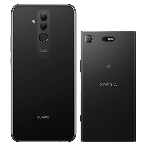 Mate 20 Lite vs Xperia XZ1 Compact. View of main cameras