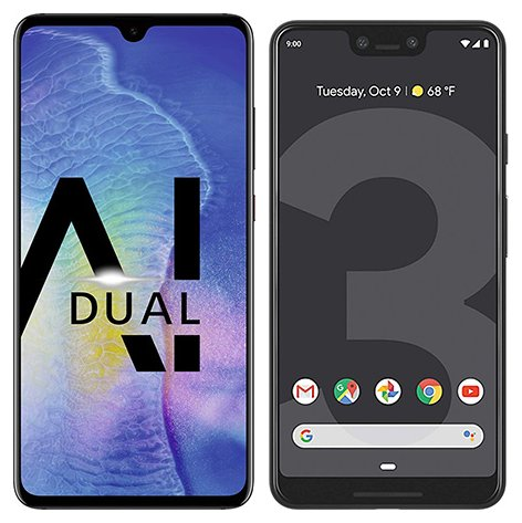 Smartphone Comparison: Huawei mate 20 vs Google pixel 3 xl