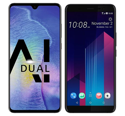 Smartphone Comparison: Huawei mate 20 vs Htc u11 plus