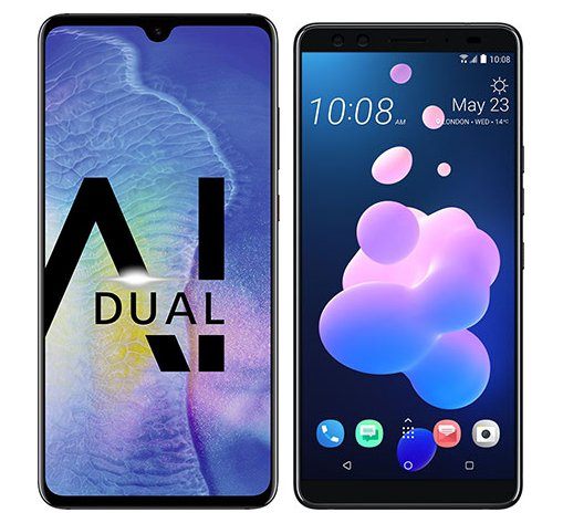 Smartphone Comparison: Huawei mate 20 vs Htc u12 plus